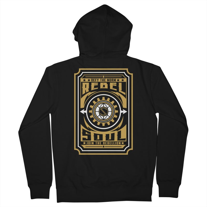 Defy the Norm - Gold and White Women's French Terry Zip-Up Hoody by rebelsoulstudio's Artist Shop