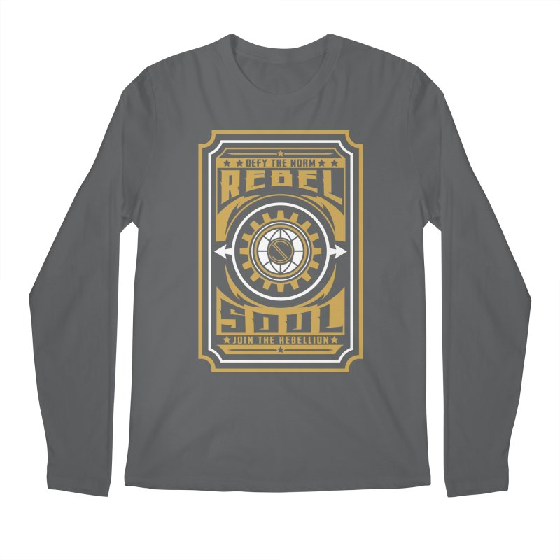 Defy the Norm - Gold and White Men's Regular Longsleeve T-Shirt by rebelsoulstudio's Artist Shop