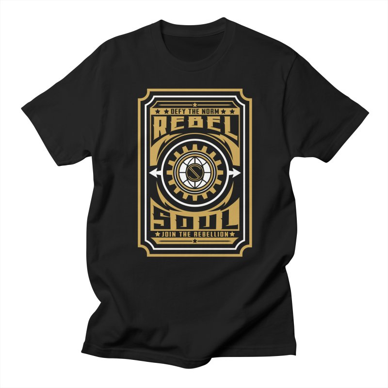 Defy the Norm - Gold and White Women's Regular Unisex T-Shirt by rebelsoulstudio's Artist Shop