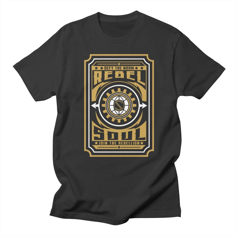 Defy the Norm - Gold and White Men's Regular T-Shirt by rebelsoulstudio's Artist Shop