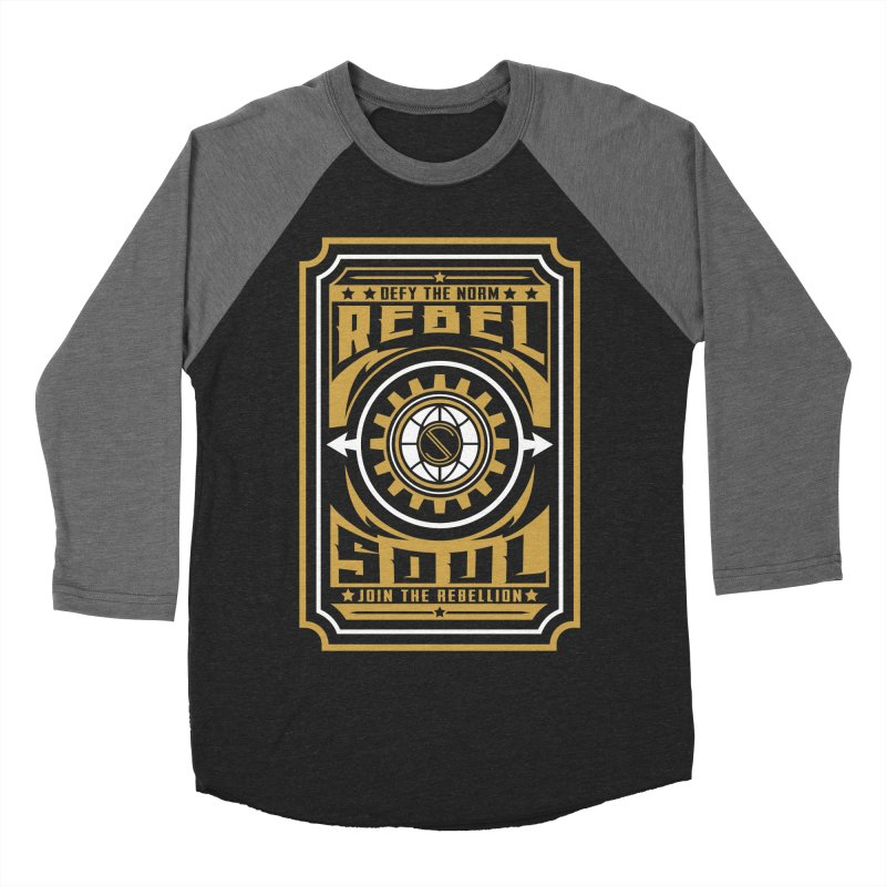 Defy the Norm - Gold and White Men's Baseball Triblend Longsleeve T-Shirt by rebelsoulstudio's Artist Shop