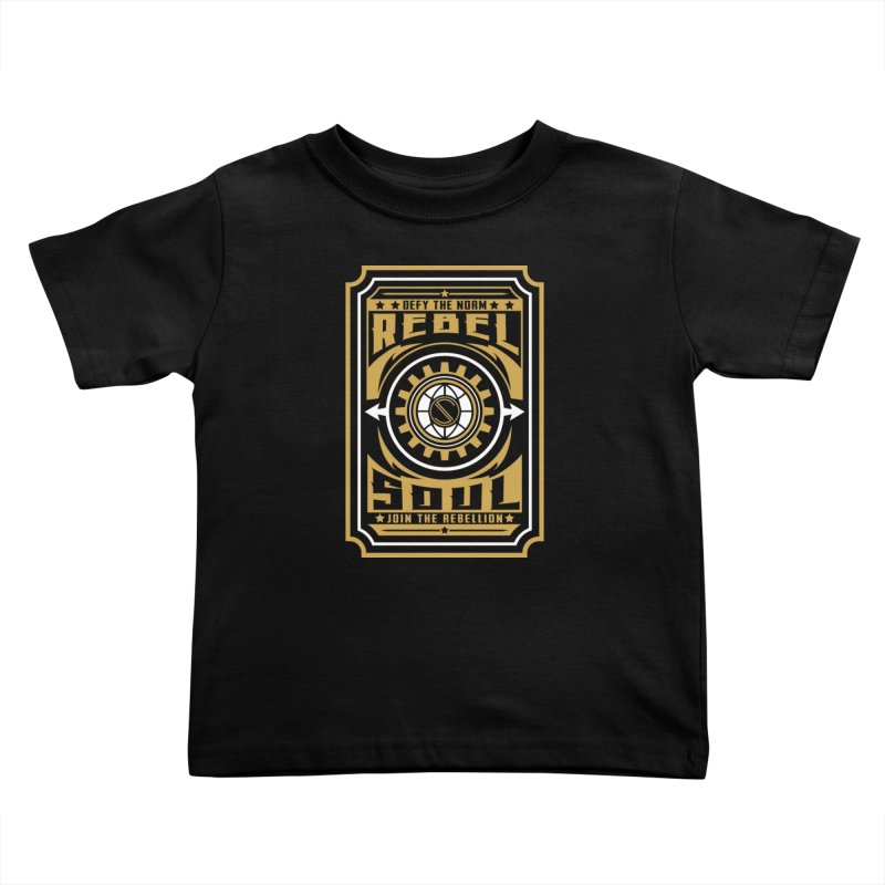 Defy the Norm - Gold and White Kids Toddler T-Shirt by rebelsoulstudio's Artist Shop