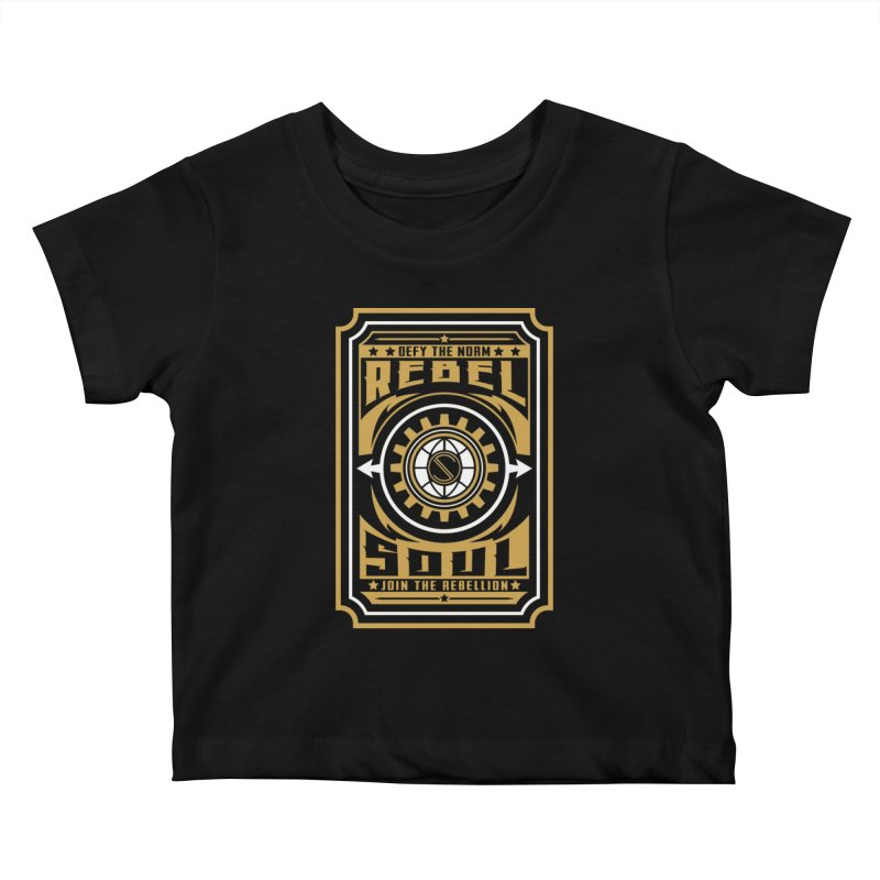 Defy the Norm - Gold and White Kids Baby T-Shirt by rebelsoulstudio's Artist Shop