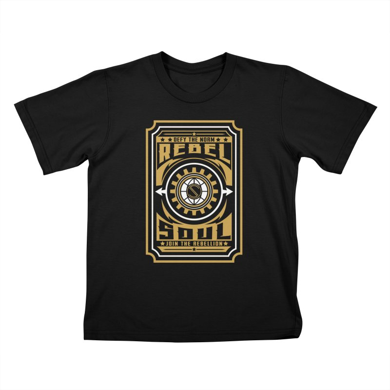 Defy the Norm - Gold and White Kids T-Shirt by rebelsoulstudio's Artist Shop