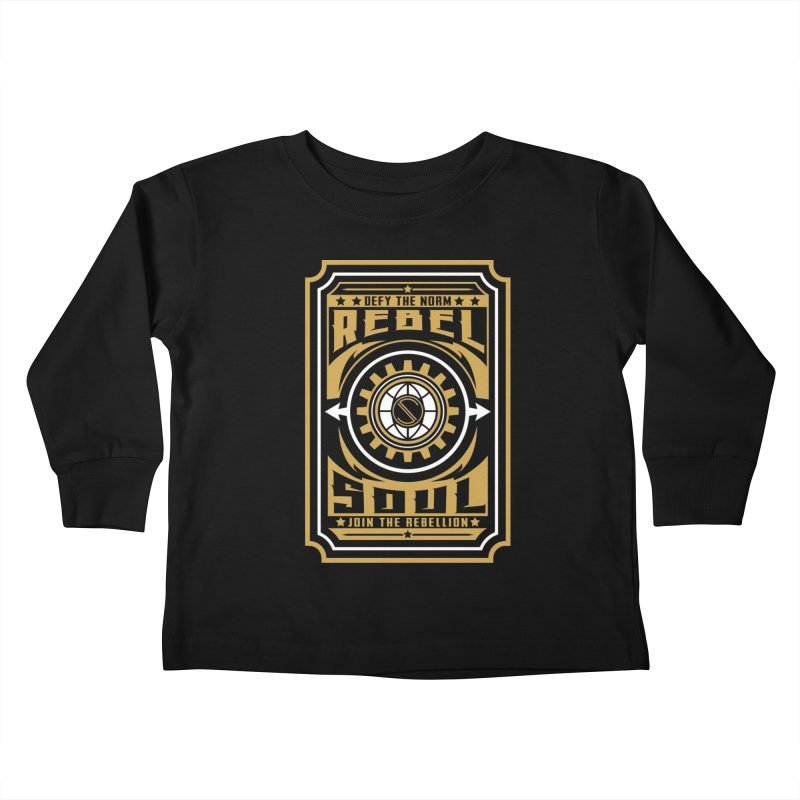 Defy the Norm - Gold and White Kids Toddler Longsleeve T-Shirt by rebelsoulstudio's Artist Shop
