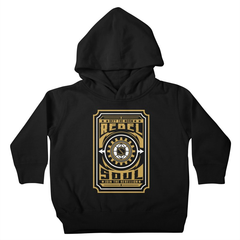 Defy the Norm - Gold and White Kids Toddler Pullover Hoody by rebelsoulstudio's Artist Shop