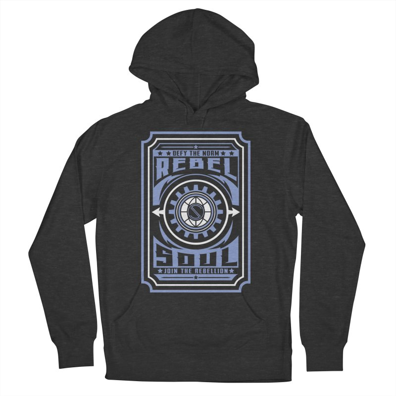 Defy the Norm - Blue and White Women's French Terry Pullover Hoody by rebelsoulstudio's Artist Shop