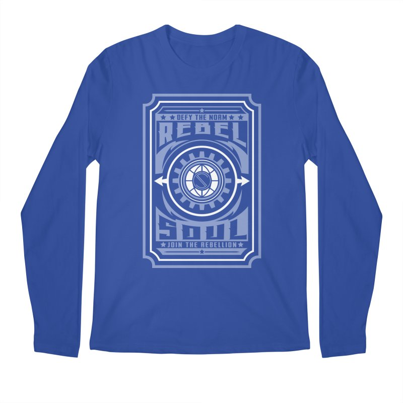 Defy the Norm - Blue and White Men's Regular Longsleeve T-Shirt by rebelsoulstudio's Artist Shop