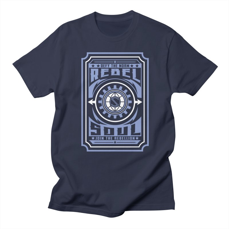 Defy the Norm - Blue and White in Men's Regular T-Shirt Navy by rebelsoulstudio's Artist Shop