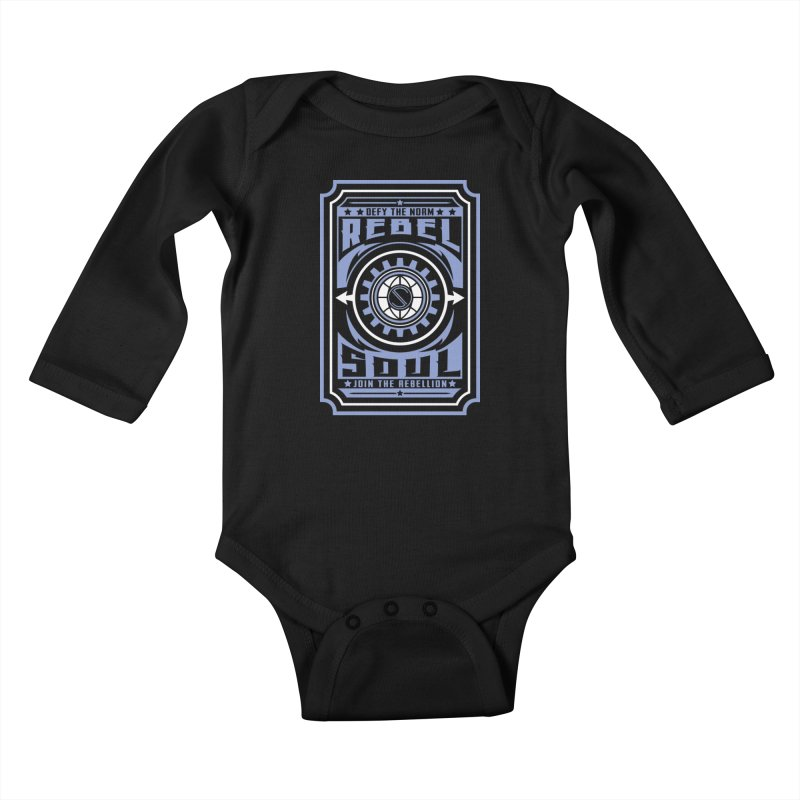 Defy the Norm - Blue and White Kids Baby Longsleeve Bodysuit by rebelsoulstudio's Artist Shop