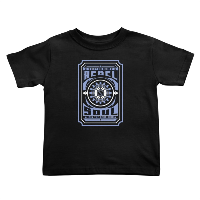 Defy the Norm - Blue and White Kids Toddler T-Shirt by rebelsoulstudio's Artist Shop