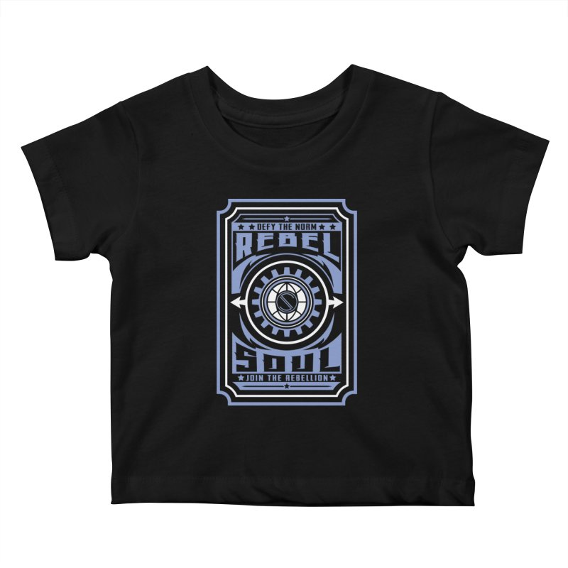 Defy the Norm - Blue and White Kids Baby T-Shirt by rebelsoulstudio's Artist Shop