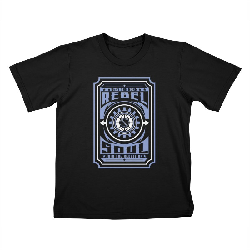 Defy the Norm - Blue and White Kids T-Shirt by rebelsoulstudio's Artist Shop