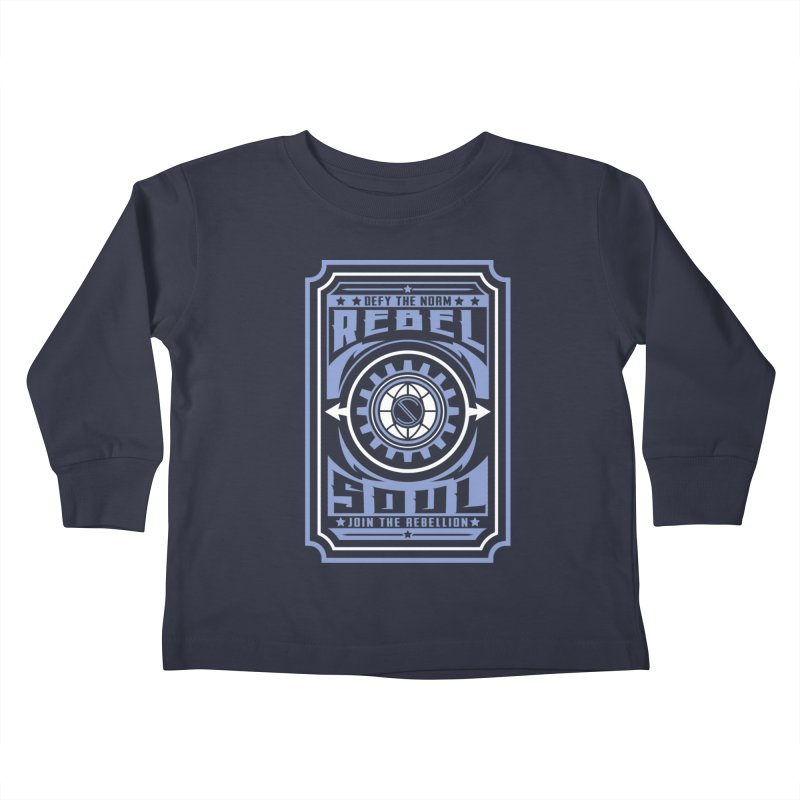 Defy the Norm - Blue and White Kids Toddler Longsleeve T-Shirt by rebelsoulstudio's Artist Shop