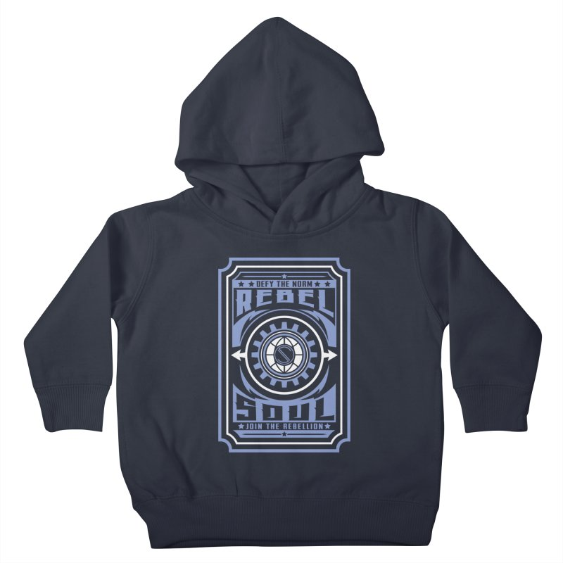 Defy the Norm - Blue and White Kids Toddler Pullover Hoody by rebelsoulstudio's Artist Shop