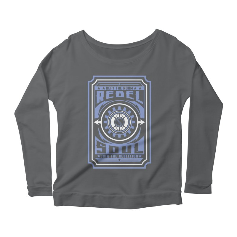 Defy the Norm - Blue and White Women's Scoop Neck Longsleeve T-Shirt by rebelsoulstudio's Artist Shop