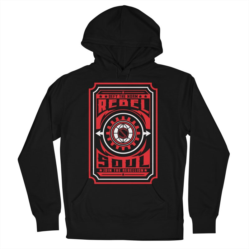 Defy the Norm - Red and White Women's French Terry Pullover Hoody by rebelsoulstudio's Artist Shop
