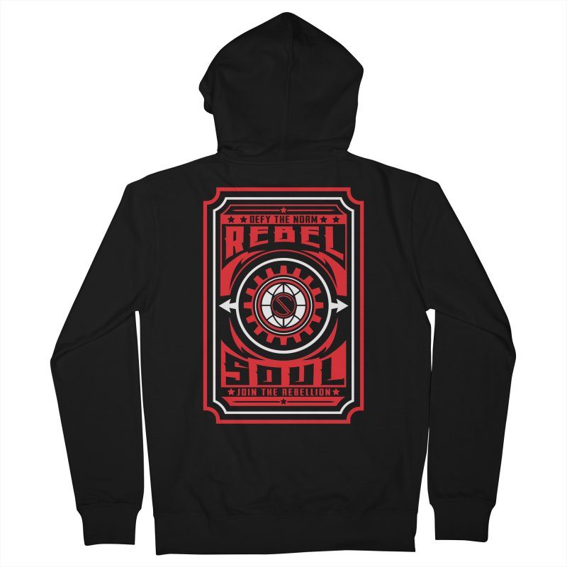 Defy the Norm - Red and White Women's French Terry Zip-Up Hoody by rebelsoulstudio's Artist Shop