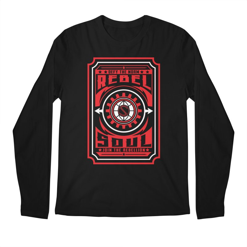 Defy the Norm - Red and White Men's Regular Longsleeve T-Shirt by rebelsoulstudio's Artist Shop