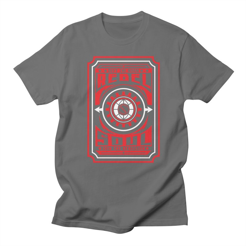 Defy the Norm - Red and White Women's Regular Unisex T-Shirt by rebelsoulstudio's Artist Shop