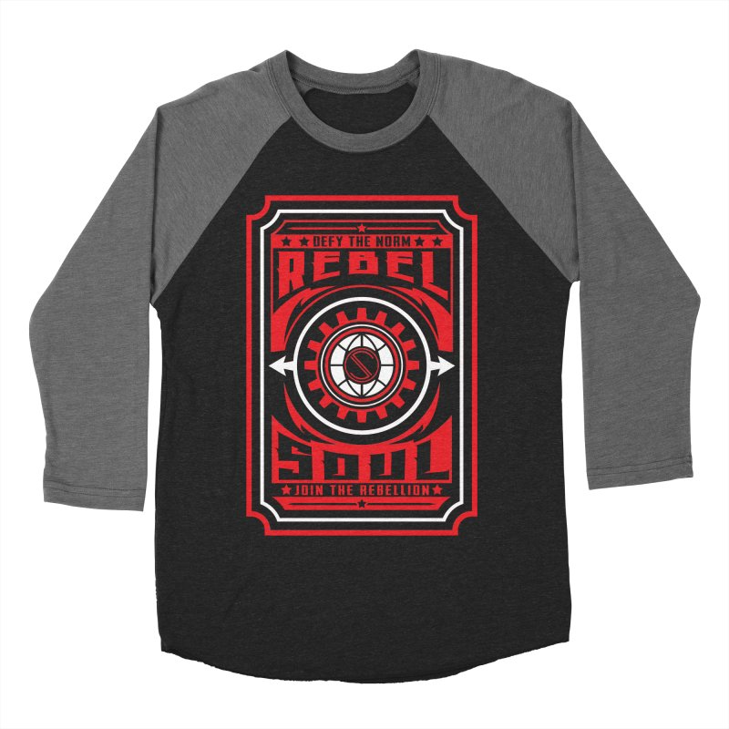 Defy the Norm - Red and White Men's Baseball Triblend Longsleeve T-Shirt by rebelsoulstudio's Artist Shop