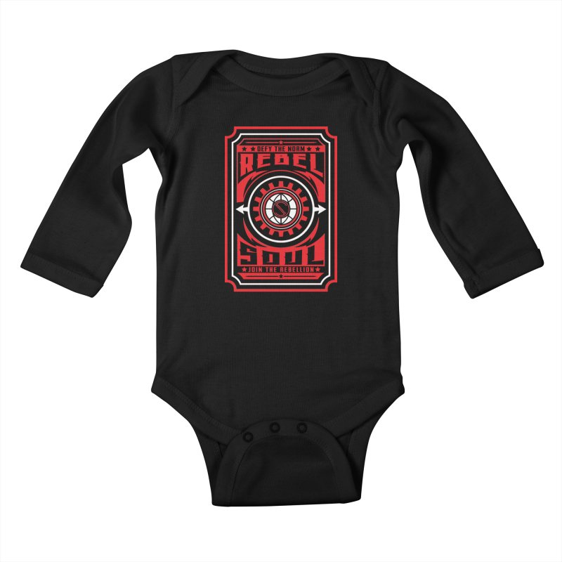 Defy the Norm - Red and White Kids Baby Longsleeve Bodysuit by rebelsoulstudio's Artist Shop