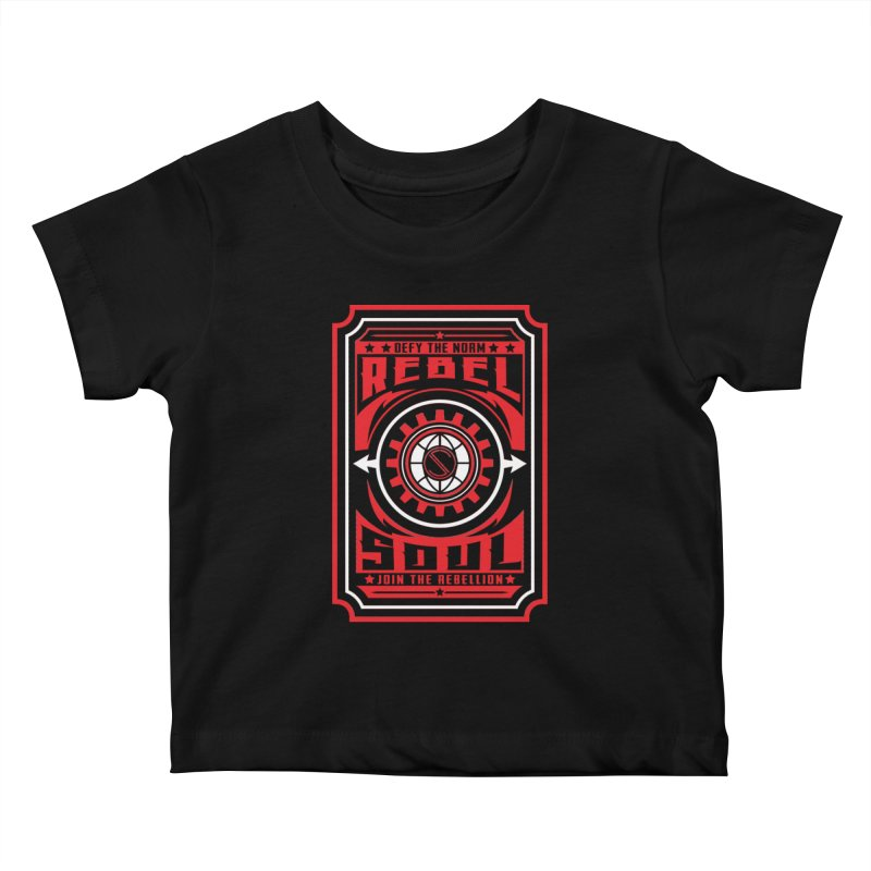 Defy the Norm - Red and White Kids Baby T-Shirt by rebelsoulstudio's Artist Shop