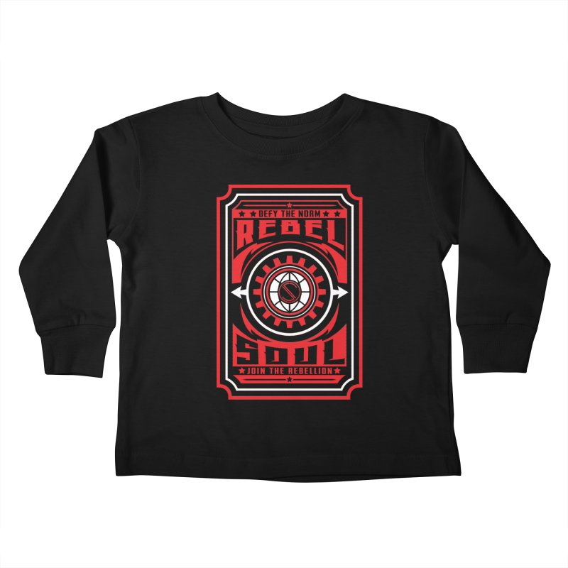 Defy the Norm - Red and White Kids Toddler Longsleeve T-Shirt by rebelsoulstudio's Artist Shop