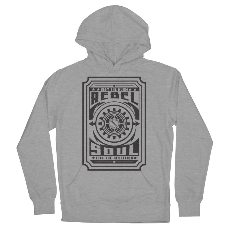 Defy the Norm - Black Men's French Terry Pullover Hoody by rebelsoulstudio's Artist Shop