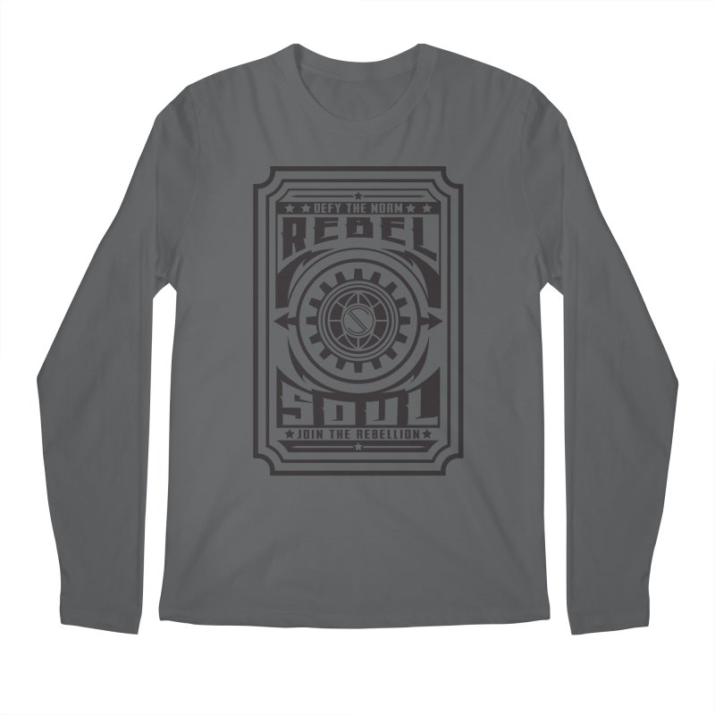 Defy the Norm - Black Men's Regular Longsleeve T-Shirt by rebelsoulstudio's Artist Shop