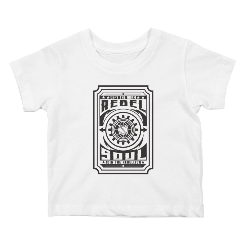 Defy the Norm - Black Kids Baby T-Shirt by rebelsoulstudio's Artist Shop
