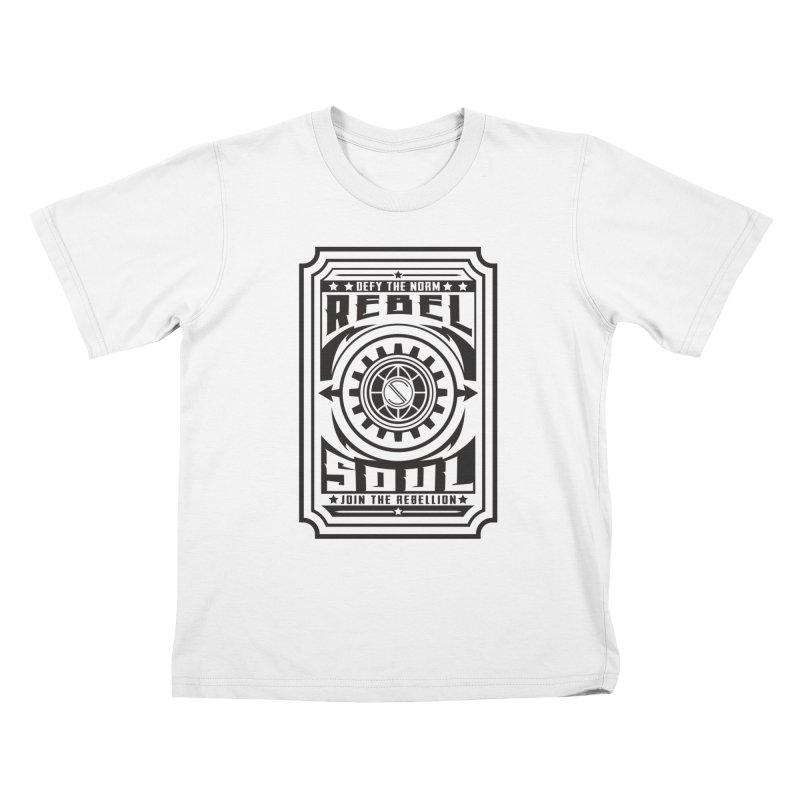 Defy the Norm - Black Kids T-Shirt by rebelsoulstudio's Artist Shop