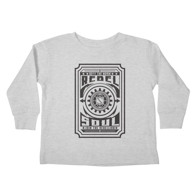 Defy the Norm - Black Kids Toddler Longsleeve T-Shirt by rebelsoulstudio's Artist Shop