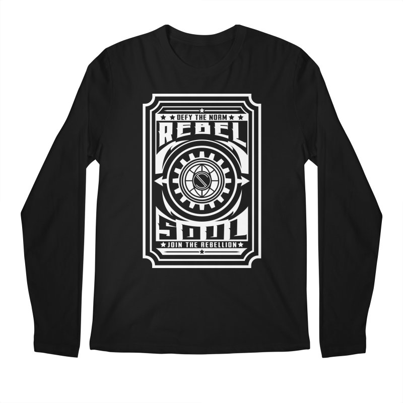 Defy the Norm - White Men's Regular Longsleeve T-Shirt by rebelsoulstudio's Artist Shop