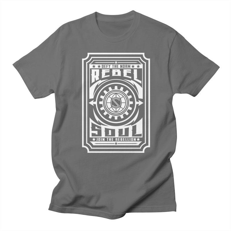Defy the Norm - White Men's Regular T-Shirt by rebelsoulstudio's Artist Shop