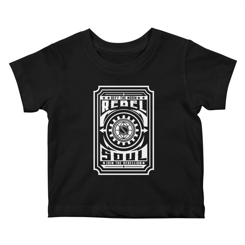 Defy the Norm - White Kids Baby T-Shirt by rebelsoulstudio's Artist Shop