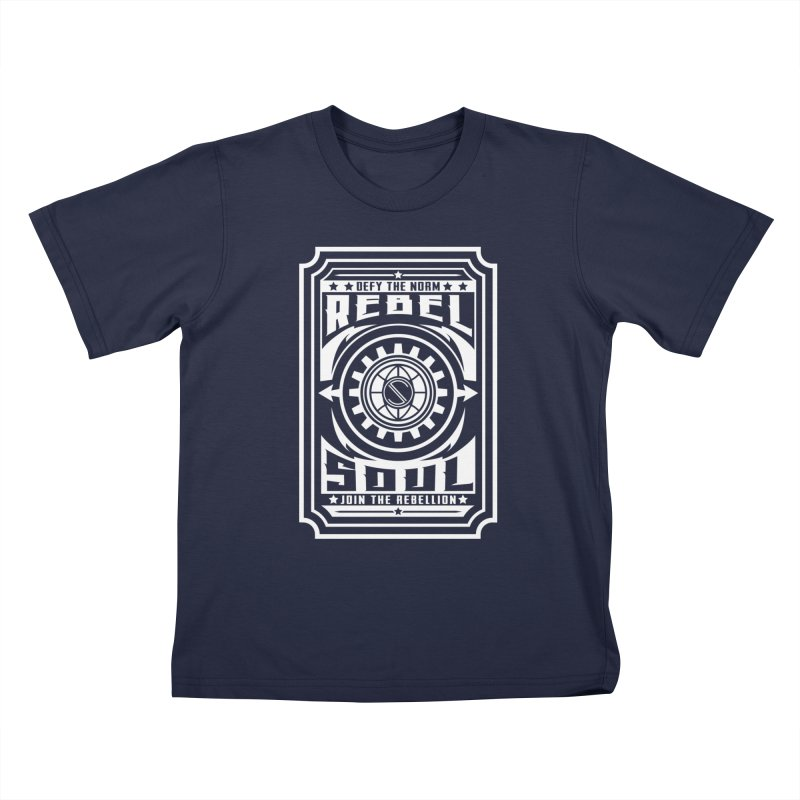 Defy the Norm - White Kids T-Shirt by rebelsoulstudio's Artist Shop