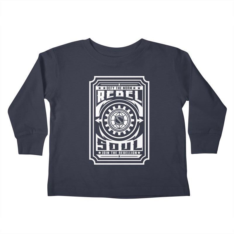 Defy the Norm - White Kids Toddler Longsleeve T-Shirt by rebelsoulstudio's Artist Shop