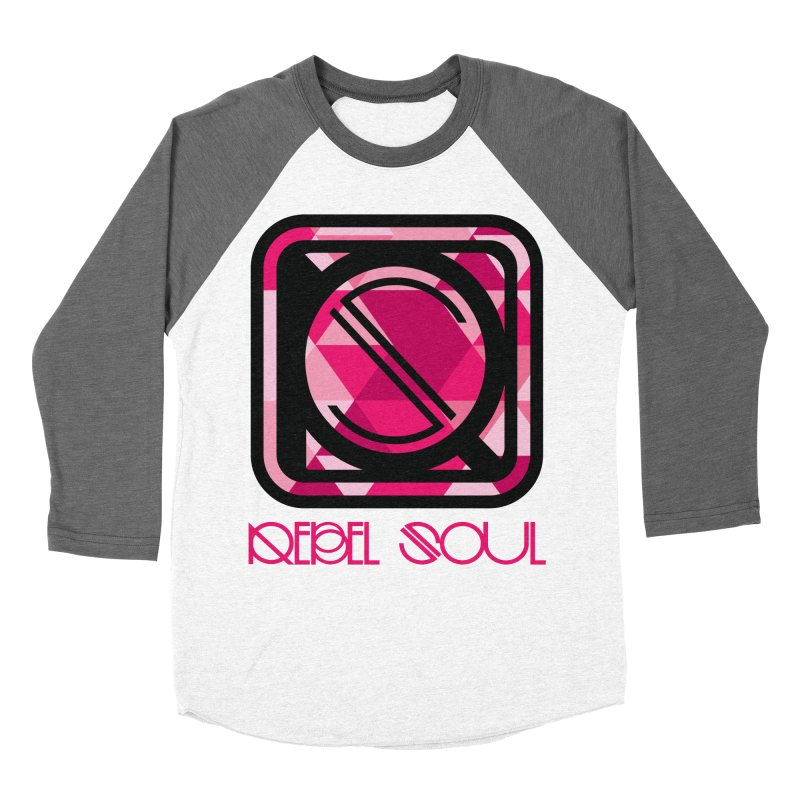 Women's Geometric Logo Apparel Women's Baseball Triblend Longsleeve T-Shirt by rebelsoulstudio's Artist Shop