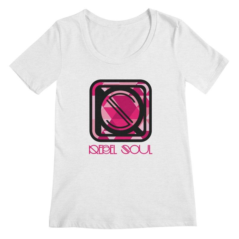 Women's Geometric Logo Apparel Women's Regular Scoop Neck by rebelsoulstudio's Artist Shop