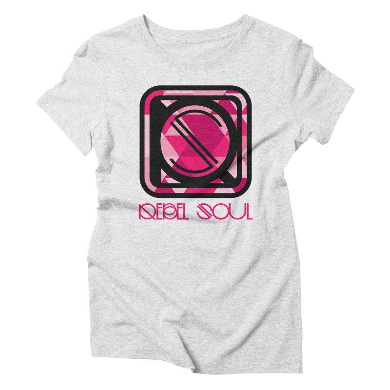 Women's Geometric Logo Apparel Women's Triblend T-Shirt by rebelsoulstudio's Artist Shop
