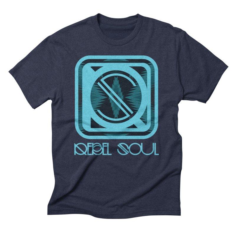 Men's Glacier Plains Icon Men's Triblend T-Shirt by rebelsoulstudio's Artist Shop
