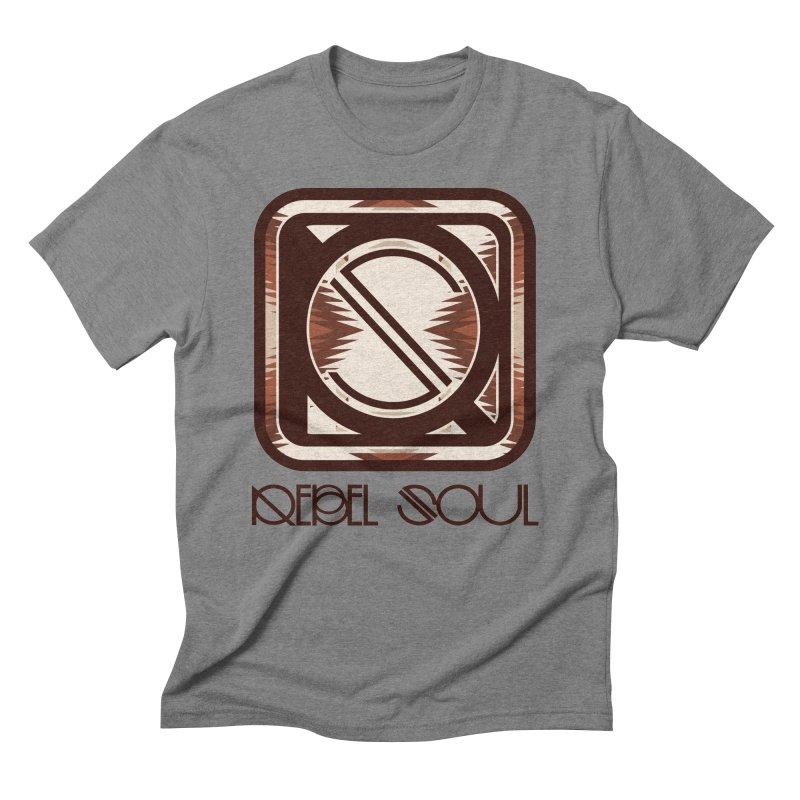 Desert Diamond Geometric Icon Men's Triblend T-Shirt by rebelsoulstudio's Artist Shop