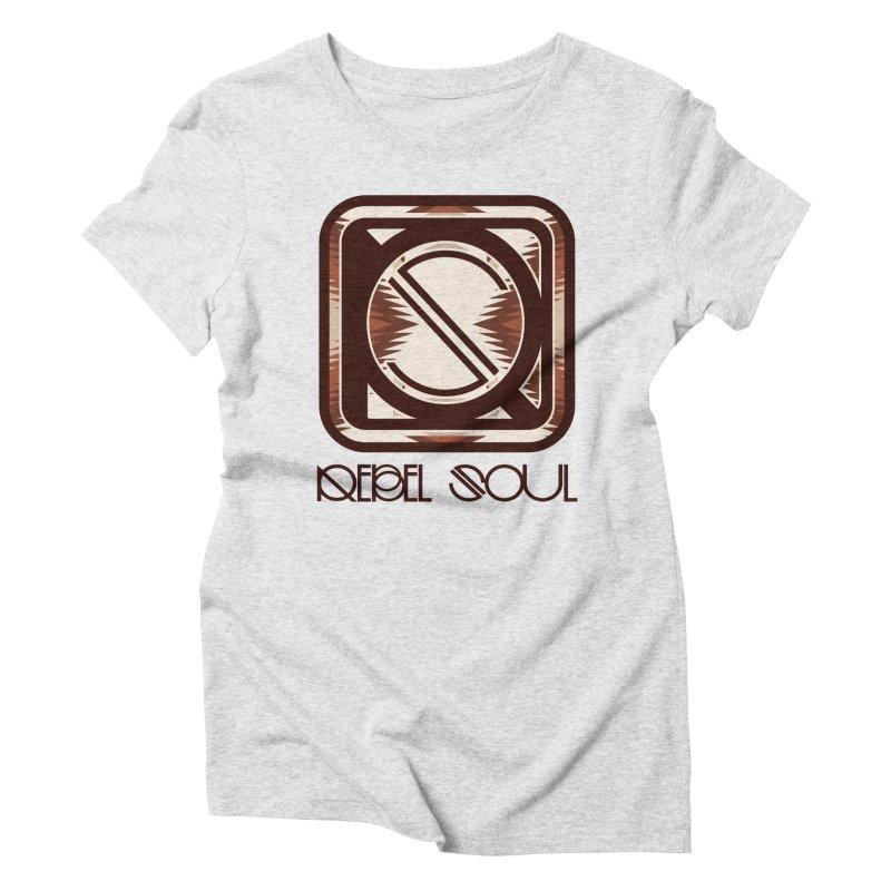 Desert Diamond Geometric Icon Women's Triblend T-Shirt by rebelsoulstudio's Artist Shop