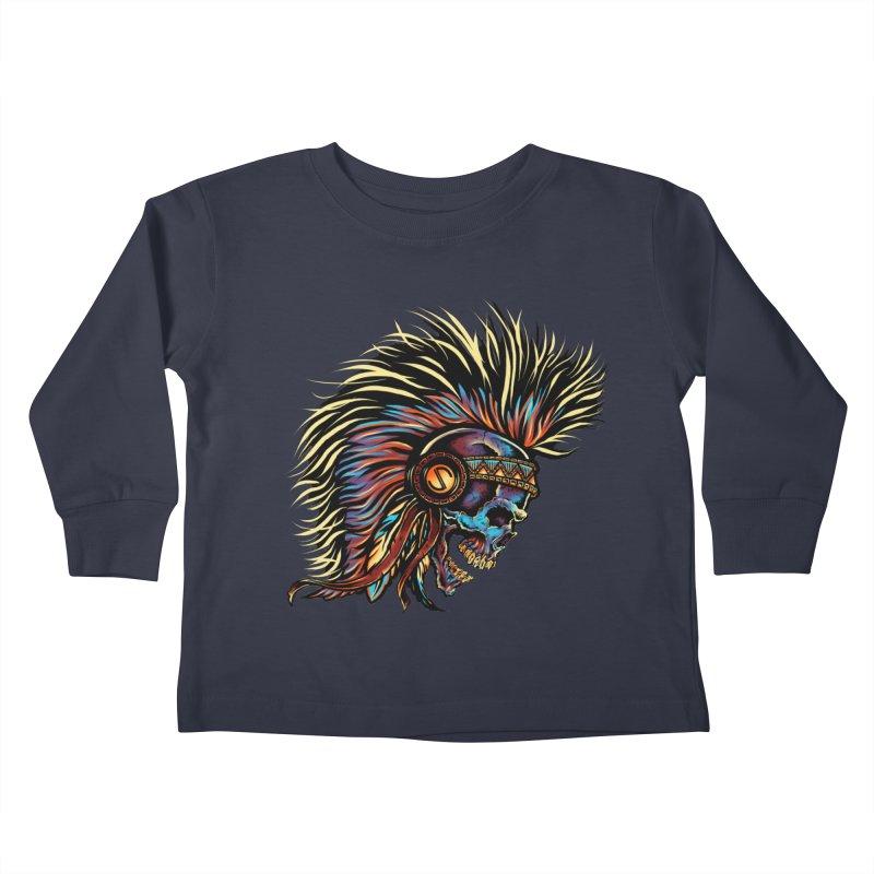 War Paint Kids Toddler Longsleeve T-Shirt by rebelsoulstudio's Artist Shop