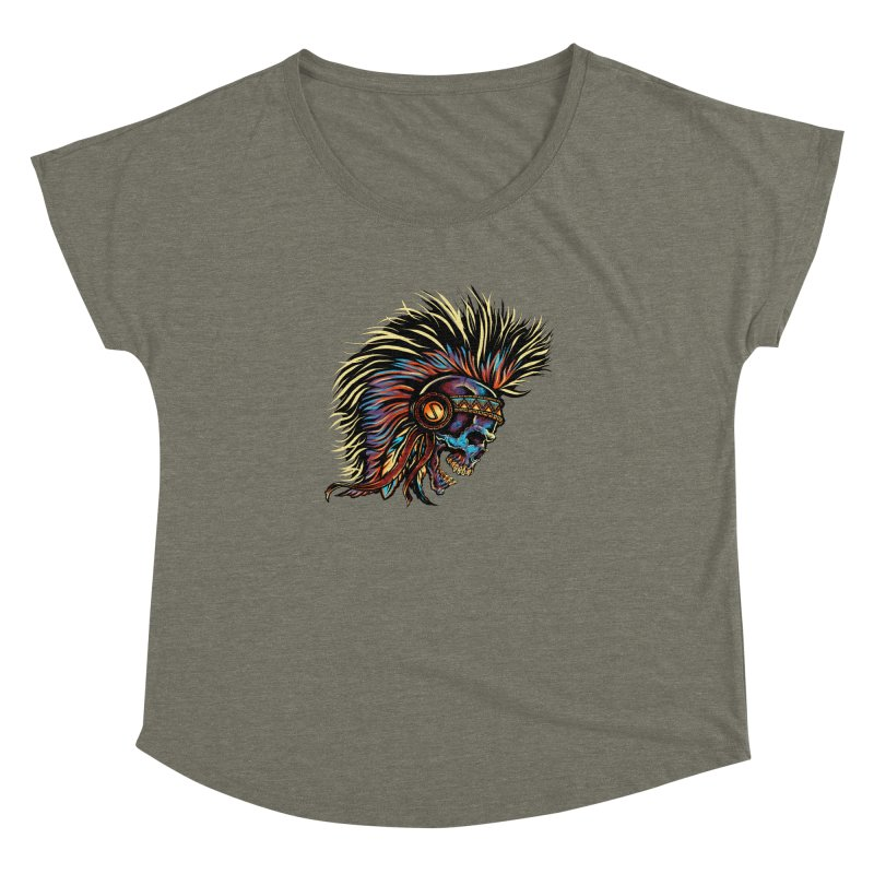 War Paint Women's Dolman Scoop Neck by rebelsoulstudio's Artist Shop