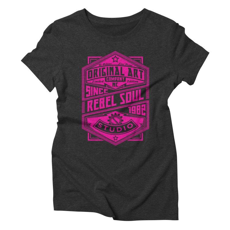 Womens Standard Issue Label (Single Color) Women's Triblend T-Shirt by rebelsoulstudio's Artist Shop