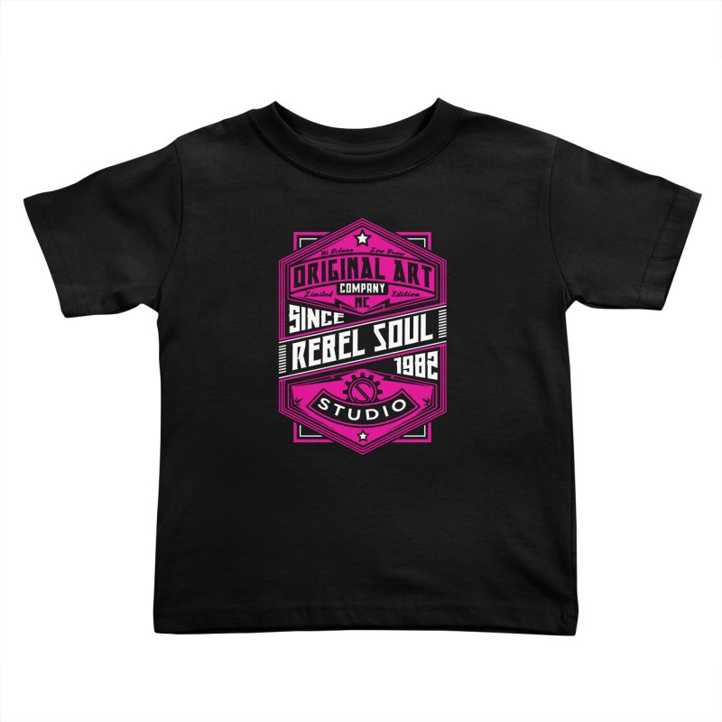 Womens Standard Issue Label (Two Color ) Kids Toddler T-Shirt by rebelsoulstudio's Artist Shop