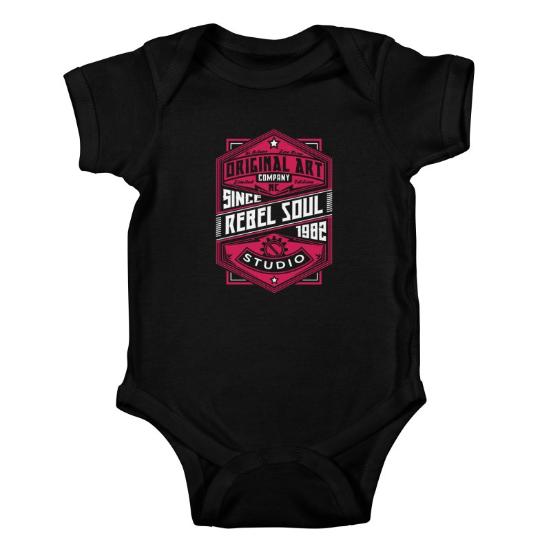 Mens Standard Issue Label (Two Color) Kids Baby Bodysuit by rebelsoulstudio's Artist Shop