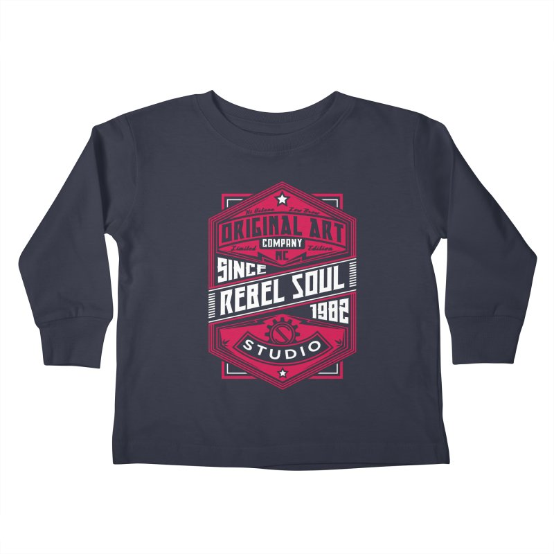 Mens Standard Issue Label (Two Color) Kids Toddler Longsleeve T-Shirt by rebelsoulstudio's Artist Shop
